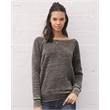 Bella + Canvas Women's Sponge Fleece Wide Neck Sweatshirt - Women's ponge fleece slouchy sweatshirt. Blank product.