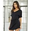 Bella + Canvas Women's Flowy V-neck Dress - Women's flowy blousy V-neck dress. Blank product.