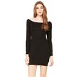BELLA + CANVAS Women's Lightweight Sweater Dress - Women's lightweight sweater dress with long raglan sleeves, a wide neck, and a 1x1 ribbed flat surface.