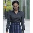 Calvin Klein Women's Non-Iron Micro Pincord Long Sleeve S... - Non-iron mocro pincord sleeve shirt with adjustable cuffs.