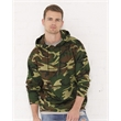 Code Five Adult Camo Pullover Fleece Hoodie - Camouflage pullover hooded sweatshirt. Blank product.