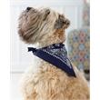 "Doggie Skins Doggie Bandana - 50% cotton / 50% polyester woven fabric bandana measuring 30"" wide x 15"" tall for a dog."