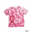 Dyenomite Youth Awareness Ribbon T-Shirt - Youth tie-dyed awareness ribbon t-shirt. Blank product.