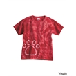 Dyenomite Youth Pawprint Short Sleeve T-Shirt - Adult tie-dyed paw print short sleeve t-shirt. Blank.