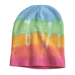 Dyenomite Tie Dye 12 Inch Knit Beanie - 12 inch knit tie-dye beanie made of 60/40 cotton/polyester and available four versions.