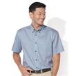 FeatherLite Short Sleeve Stain-Resistant Twill Shirt - Short sleeve button-down twill shirt with woodtone buttons and double-needle stitching throughout.