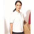 FeatherLite Women's 100% Cotton Pique Sport Shirt - Women's sport shirt with fashion collar. Blank.