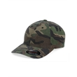 Flexfit Camo Cap - Fitted soft structured camouflage cap in garment washed cotton. Blank product.