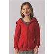 Gildan Heavy Blend™ Youth Full-Zip Hooded Sweatshirt - Youth 8.0 oz., 50% cotton / 50% polyester full zip hooded sweatshirt. Blank.