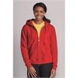 Gildan Heavy Blend™ Women's Full-Zip Hooded Sweatshirt - Women's full-zip sweatshirt with matching drawstring. Blank product.