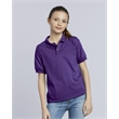 Gildan DryBlend® Youth Jersey Sport Shirt - Youth 5.6 oz preshrunk 50% cotton/50% polyester jersey knit sport shirt. Blank.