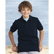 Gildan DryBlend® Youth Pique Sport Shirt - Youth pique cotton / polyester sport short with two color-matched buttons on a clean-finished placket.