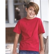 Hanes Nano-T® Youth Short Sleeve T-Shirt - Hanes youth T-shirt with double-needle stitching and shoulder-to-shoulder tape.
