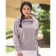 J. America Women's Lounge Fleece Hi-Low Hooded Sweatshirt - Women's Lounge Fleece Hi-Low Hooded Pullover