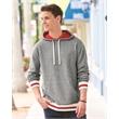 J. America Peppered Fleece Lapover Hooded Sweatshirt - Peppered Fleece Lapover Hooded Pullover