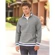J. America Peppered Fleece Quarter-Zip Sweatshirt - Peppered Fleece 1/4 Zip Pullover