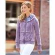 J. America Women's Zen Fleece Full-Zip Hooded Sweatshirt - Women's full-zip hooded sweatshirt. Blank product.