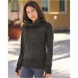 J. America Women's Zen Fleece Cowl Neck Sweatshirt - Vintage Zen Fleece Women's Cowl Neck Sweatshirt
