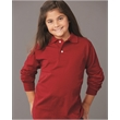 JERZEES SpotShield™ Youth Long Sleeve Sport Shirt - Youth long sleeve sport shirt made of cotton/polyester jersey with a stain-resistant performance finish.