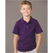 JERZEES Youth SpotShield™ 50/50 Sport Shirt - Youth sport shirt made of 50/50 cotton/polyester jersey knit with two pearlized buttons on a reinforced placket.