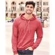JERZEES Snow Heather French Terry Pullover Hood Sweatshirt - Snow Heather French Terry Pullover Hood Sweatshirt