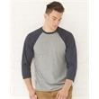 LAT Adult Baseball Fine Jersey Tee - Vintage Fine Jersey 3/4 Sleeve Baseball Shirt