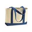 Liberty Bags Leeward Boater Tote - Canvas boater tote. Blank product.