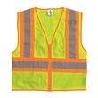 ML Kishigo Ultra-Cool™ Mesh Vest - Orange mesh contrasting safety vest. Blank.