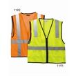 ML Kishigo Economy Mesh 6-Pocket Vest - 6-pocket mesh vest with zipper front closure. Blank product.