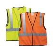 ML Kishigo Economy Mesh 1-Pocket Vest - 1-pocket mesh vest with left chest pocket. Blank product.