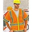 ML Kishigo Ultra-Cool™ Six-Pocket Mesh Surveyor's Vest - Mesh surveyor's vest in Lime with zipper front closure. Blank product.