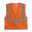 ML Kishigo Premium Brilliant Series® Three-Pocket Zippere... - Polyester mesh vest with reflective material