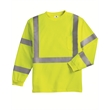 ML Kishigo Class 3 Long Sleeve T-Shirt - Long sleeve class 3 compliant safety shirt. Blank.