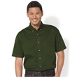Sierra Pacific Short Sleeve Cotton Twill Shirt - Short sleeve button-down shirt made of 100% cotton twill with woodtone buttons and double-needle stitching throughout.