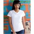 SubliVie Women's V-Neck Polyester Sublimation Tee - Economy vest in Lime. Blank.