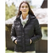 Weatherproof Women's 32 Degrees Hooded Packable Down Jacket - Women's hooded down jacket with hood. Water and wind-resistant, lightweight and packable