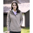 Weatherproof Women's 32 Degrees Melange Rain Jacket - Women's rain jacket with adjustable hood and taped seams