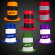 Assorted Color Stove Top Hats - 11 1/2: tall stove pipe top hat, offered in assorted colors.