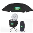 Party Cooler With Umbrella - Party cooler with 6 foot beach umbrella.