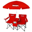 The Vacation Double Chair Combo - Double chair/cooler/beach umbrella combo.