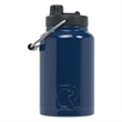 RTIC Half Gallon Navy Blue Stainless Steel Jug - RTIC Half Gallon Navy Blue Stainless Steel Bottle. Double Wall vacuum insulated. Holds ice for up to 24 hours.