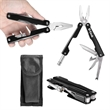 Large 8 Function Multi-Tool - Large 8 function stainless steel multi tool with flashlight and more.