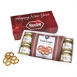 Gourmet Mustard Set With Pretzels In Gift Box - Gourmet Mustard Set With Pretzels In Gift Box