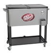 Rolling Vending Cart Cooler - Rolling vending cart/cooler with brackets to hold an umbrella.