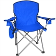 Large Folding Chair w/Bottle & Can Cooler - 330 lb. Rating - Large Folding Chair w/Removable Wine Bottle & 6 Pack Cooler - 330 lb. Rating