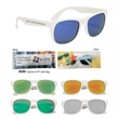 Rubberized Mirrored Sunglasses - Rubberized sunglasses with mirrored lenses and UV400 protection.