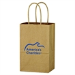 "Kraft Paper Brown Shopping Bag - 5-1/4"" x 8-1/4"" - 5 1/4"" x 8 1/4"" shopping bag made from Kraft paper."