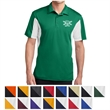 Sport-Tek Side Blocked Micropique Sport-Wick Polo - 3.8 oz. 100% polyester tricot polo shirt