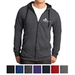 District Young Men's The Concert Fleece Full-Zip Hoodie - Fleece full-zip hoodie with black drawcord, hood lining and zipper (white for neon versions).