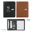 "Bonded Leather 8 1/2"" x 11"" Zipper Portfolio With Calculator - Bonded leather 8 1/2"" x 11"" zipper portfolio with calculator."